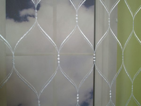 Firana haftowana na tiulu wys.300cm