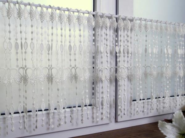 Firana-zazdrostka gipiurowa  wysokość 160cm - Krem,biel