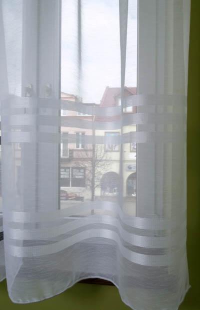 Firana,etamina paski biała  do wys. 300cm