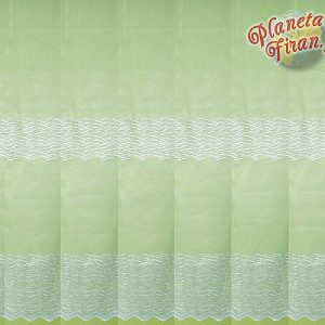 Firana na markizecie z haftem wys. do 285cm bez prasowania